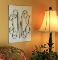 Mounted Wood Wall Monogram - CHOOSE YOUR COLORS!