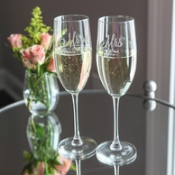 Mr & Mrs Personalized Champagne Flutes - SET OF 2