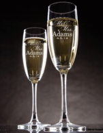 Mr & Mrs Personalized Champagne Toasting Flutes - SET OF 2