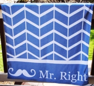 Mr Right Oversized Beach Towel