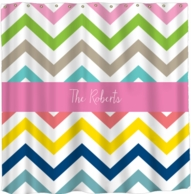 Multi Chevron Personalized Shower Curtain - DESIGN YOUR OWN!