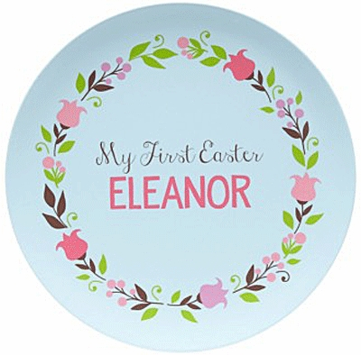 My First Easter Personalized Kids Plate