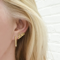 Nameplate Ear Crawler Earrings
