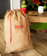 Natural Burlap Personalized Santa Sack