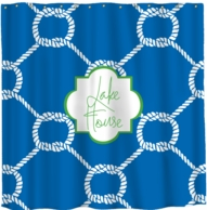 Nautical Ropes Monogram Shower Curtain - DESIGN YOUR OWN!