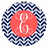 Navy Aztek Monogrammed Coasters - SET OF 4