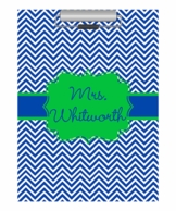 Navy Chevron Personalized Clipboard