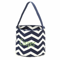 Navy Chevron Personalized Easter Bucket