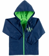 Navy Kids Monogrammed Rain Coat