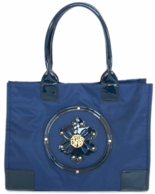 Navy Marilyn Monogrammed Beach Tote