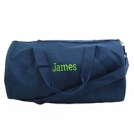 Navy Monogrammed Child's Duffel Bag