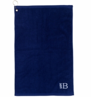Navy Monogrammed Golf Towel