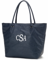 Navy Monogrammed Large Tote Bag