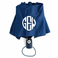 Navy Monogrammed Umbrella