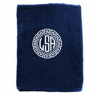 Navy Personalized Towel