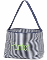 Navy Stripe Personalized Easter Mini Bucket