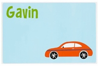 New Car Personalized Kids Placemat