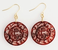 Marilyn Monogram Acrylic Earrings
