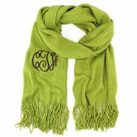 Olive Soft As A Sweater Monogrammed Scarf