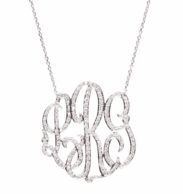 Luxe Omiya Diamond Monogram Necklace - SILVER OR GOLD