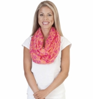 On The Veranda Pink & Orange Infinity Scarf