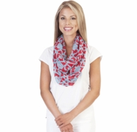 On The Veranda Red & Turquoise Infinity Scarf