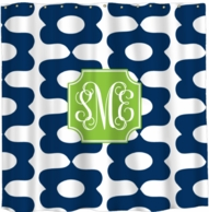 Oompah Monogrammed Shower Curtain - DESIGN YOUR OWN!