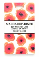 Orange Poppies Personalized Luggage Tags - SET OF 2