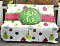 Ornaments Personalized Fleece Throw Blanket