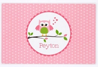 Owl Love You Personalized Kids Placemat