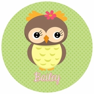 Owl Personalized Kids Plate