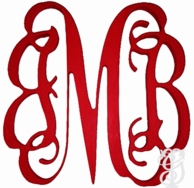 PAINTED Vine Script Wood Wall Monogram - CHOOSE YOUR COLOR & SIZE!