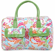 Paisley Breeze Bright Monogrammed Weekender Bag