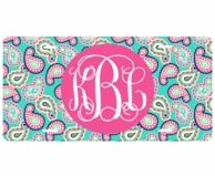 Paisley Monogrammed Car Tag License Plate
