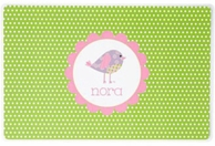 Patchwork Birdie Personalized Kids Placemat