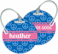 Peace Personalized Bag Tags - SET OF 2 - CHOOSE YOUR DESIGN!