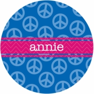 Peace Personalized Kids Plate - CHOOSE YOUR DESIGN!