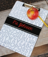 Personalized ABC Teacher Clipboard
