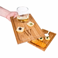 Personalized Bamboo Wine Appetizer Tray - SET OF 2