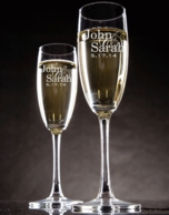 Personalized Champagne Flutes - SET OF 2