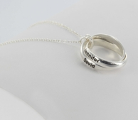 Personalized Couples Interlocking Rings Necklace