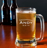 Personalized Engraved 16oz Groomsman Mug