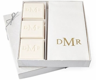 Personalized Guest Soaps & Towel Set - GOLD EMBOSSING