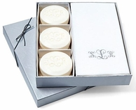 Personalized Guest Soaps & Towel Set - SILVER EMBOSSING