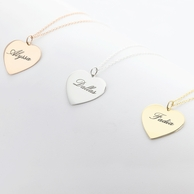 Personalized Heart Name Necklace - Silver or Gold!