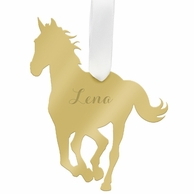 Personalized Horse Silhouette Ornament