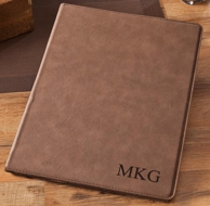 Personalized Monogram Leather Paper Portfolio
