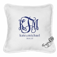 Personalized Ring Bearer Pillow with Heart Pin