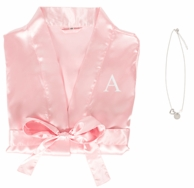 Personalized Satin Robe and Necklace Bridesmaid Gift Set