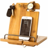 Personalized Wooden iPhone & iPad Docking Station